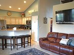 Eat-in Vaulted Kitchen with seating for up to 10 at the table and 5 more at bar!