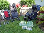 Baby Gear: High Chairs, Single & Double Strollers, Pack-n-Play, Monitor