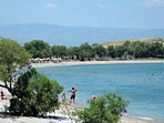 5 minute walk from the Villa Pathos