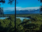 Breathtaking views from the house of the rainforest, river & mountains