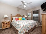 Comfortable pillow-top king size bed. New clean carpets in both