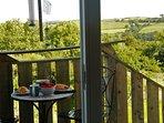 Breakfast on the Balcony overlooking the valley.