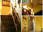 Cottage Loft Stairs, Bedroom & Toilet Combo