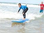 Surfing beaches