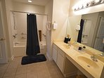 Handicapped accessible Shower/Tub