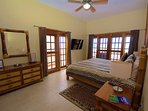 Double French doors from master bedroom lead to beachfront and side balconies!