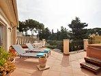 Sunny 1st floor terrace with sea views
