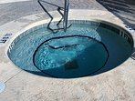 One of two hot tubs