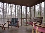 The Screened Porch Provides a Bug-Free Outdoor Experience
