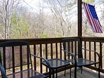 The Front Deck Overlooks the Mountain Woodlands, a Perfect Place for Watching Wildlife