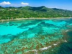 Swim right off shore and explore reef for hours where you will see a huge array of fish, start fish