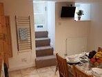Kitchen plus back door.