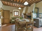 typical tuscan kitchen with fireplace and wood oven for pizza...delicious!!!!