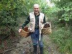 my father Marco is going in the wood for porcini mushroom!!!!