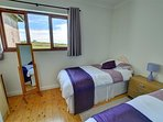 Light and airy twin bedroom, views overlooking the stunning countryside