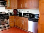 The functional Kitchen comes Fully Equipped with all Stainless Steel Appliances