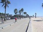 The Bike-Walking Path is 10 blocks away; the Venice Boardwalk is 5 min from here