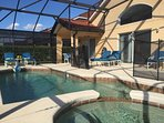 Highly desirable east exposure private pool & spa, new cushions, shaded lanai.