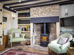 With a roaring log burner for those colder nights in the countryside