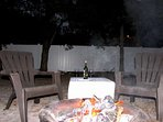 enjoy the firepit after a day at the beach