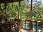 Private terrace, perfect for breakfast, coffee, and monkey watching!