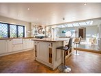 Large kitchen & Orangery. 4 door Aga, electric oven & hob