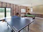 Table Tennis & Pool Table French doors to terrace & garden