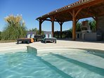 Lovely 11m x 5m swimming pool with its relaxing area for use by both gites
