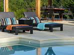 Plenty of high quality loungers on the pool for all to enjoy