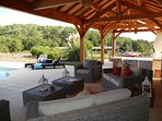 Sit a while on our comfy rattan sofas- a glass of chilled wine is in order!