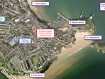Property location - walking distance to all of Tenby's beaches, restaurants and boutique  shops.