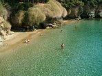 Fylakes tropical beach 10 minutes from apartmeny by feet or 5 minutes by rent pedalo or boat