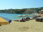 Agia Pelagia sandy beach with crestal clear water 2 steps from property!