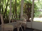 Natures Paradise has the only private outdoor space, the lanai is surrounded by palm trees