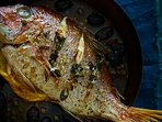 Catch of the day- Mediterranean grilled red snapper