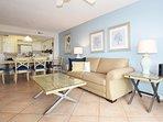 Living Room Gulf Dunes 203 Fort Walton Beach Florida Okaloosa Island Destin