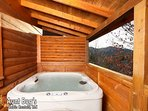 Hot Tub on Back Deck with Mountain View