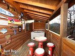 Back Deck with Outdoor Hot Tub and Picnic Table