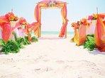Wedding Set Ups on our beach