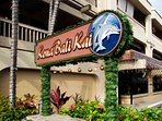Kona Bali Kai Condo Complex is on the famous Alii Drive that follows the ocean.