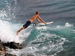 Watch the local surfers get into the water from the lanai
