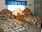 Guest Bedroom with 2 queen beds and flat screen TV