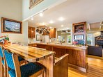 Large gourmet kitchen has everything you need to cook up a great meal for your family and friends