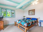 Ocean Bedroom with queen bed, flat screen, walk in closet and access to lanai and ocean views