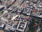 Foto aerea. Da notare la vicinanza alla villa comunale, al castello ed a Piazza Sant'Oronzo.