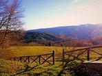 La vista sulle colline toscane