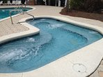 Hot tub at The Resort Village pool