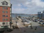 View from the exterior of Waterfront Place in Halifax.