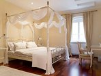 Bedroom 1 (upstairs) projects very elegant and romantic atmosphere