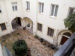 View of the courtyard from your balcony-extremely quiet location